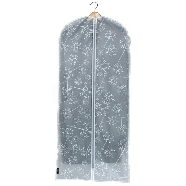 Domopak Living Peva Garment Dress Cover Bag - White Leaf
