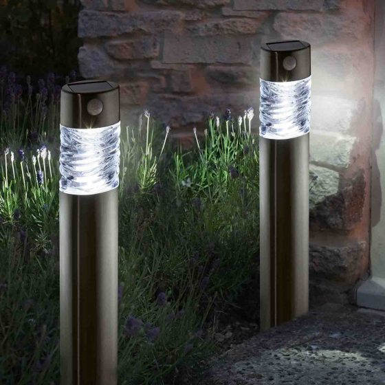 Smart Solar Super Bright Stainless Steel Pharos PIR Light