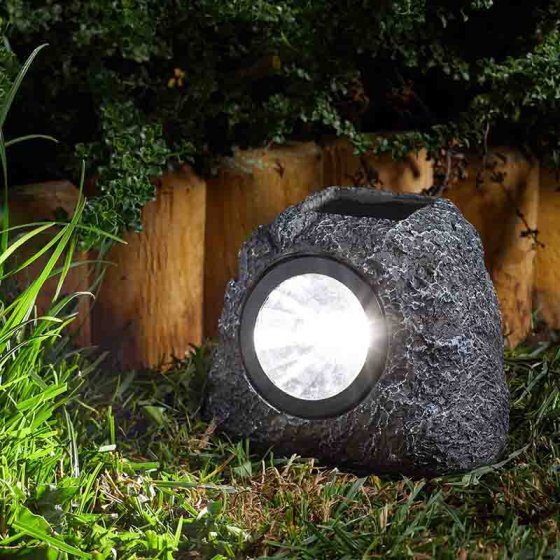 Smart Garden Solar Rock Spotlight 4 Pack