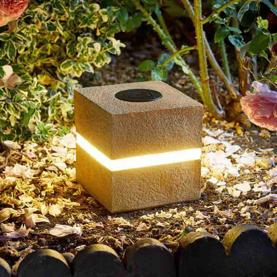 Smart Garden Glam Rock Cube Solar Light