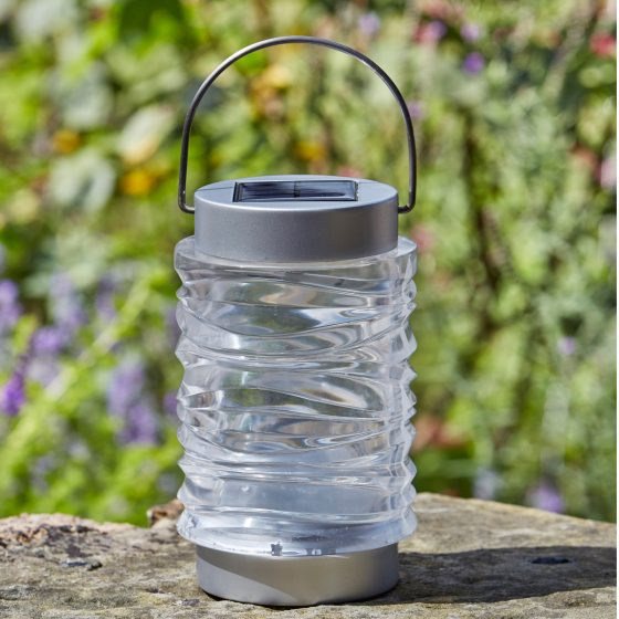 Smart Solar Super Bright Stainless Steel Wave Lantern