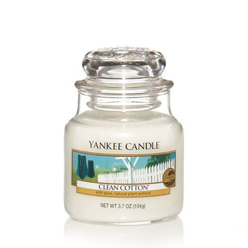 Yankee Small Jar Candle - Clean Cotton