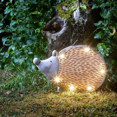 Smart Garden Solar Woodstone Inlit Hedgehog