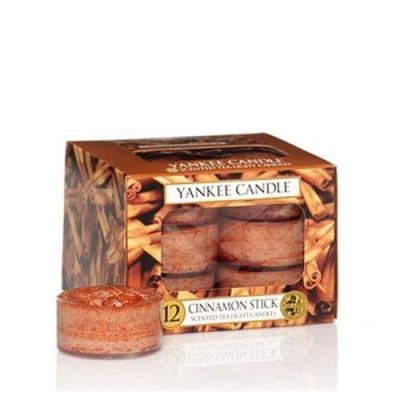 Yankee Scented Tea Light Candles - Cinnamon Stick