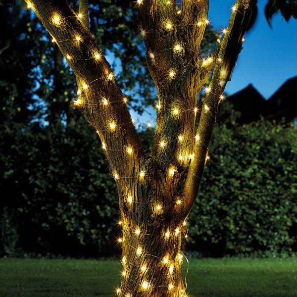 Smart Garden Solar 100 Firefly String Lights Warm White