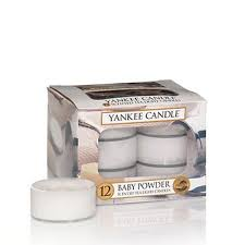 Yankee Scented Tea Light Candles - Baby Powder
