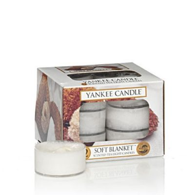 Yankee Scented Tea Light Candles - Soft Blanket