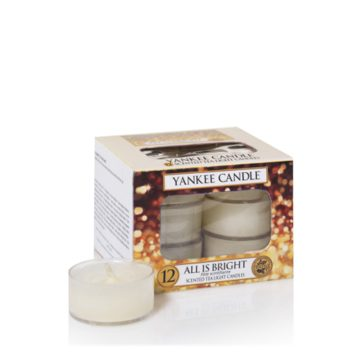 Yankee Scented Tea Light Candles - All is Bright
