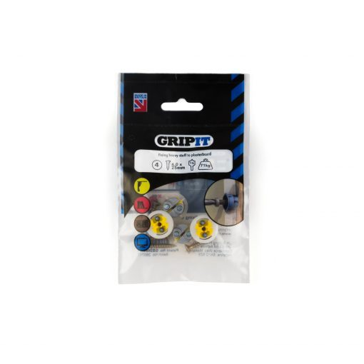 GRIP-IT 15mm Yellow Pack of 4