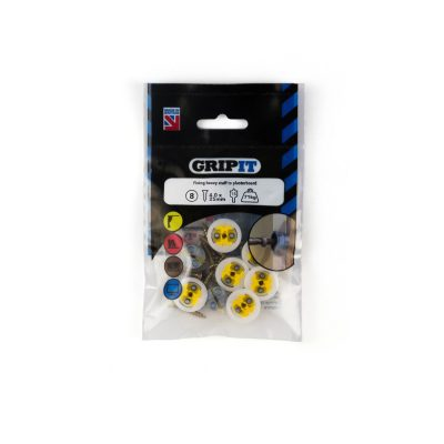 GRIP-IT 15mm Yellow Pack of 8