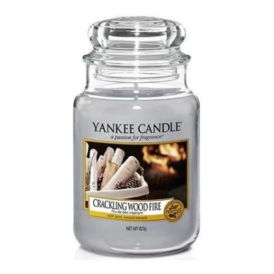 Yankee Large Jar Candle - Crackling Wood Fire