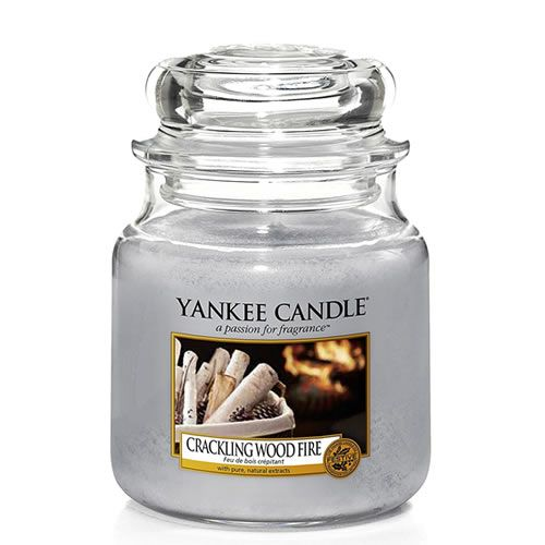 Yankee Medium Jar Candle - Crackling Wood Fire