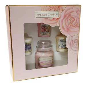 Yankee Candle 3 Votive Candle and 1 Small Jar Candle Gift Set