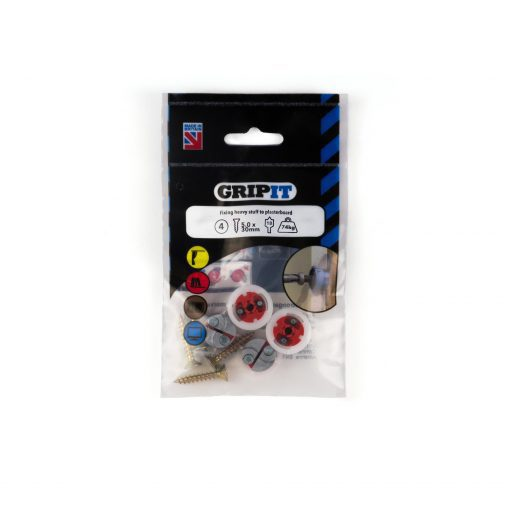 GRIP-IT 18mm Red Pack of 4
