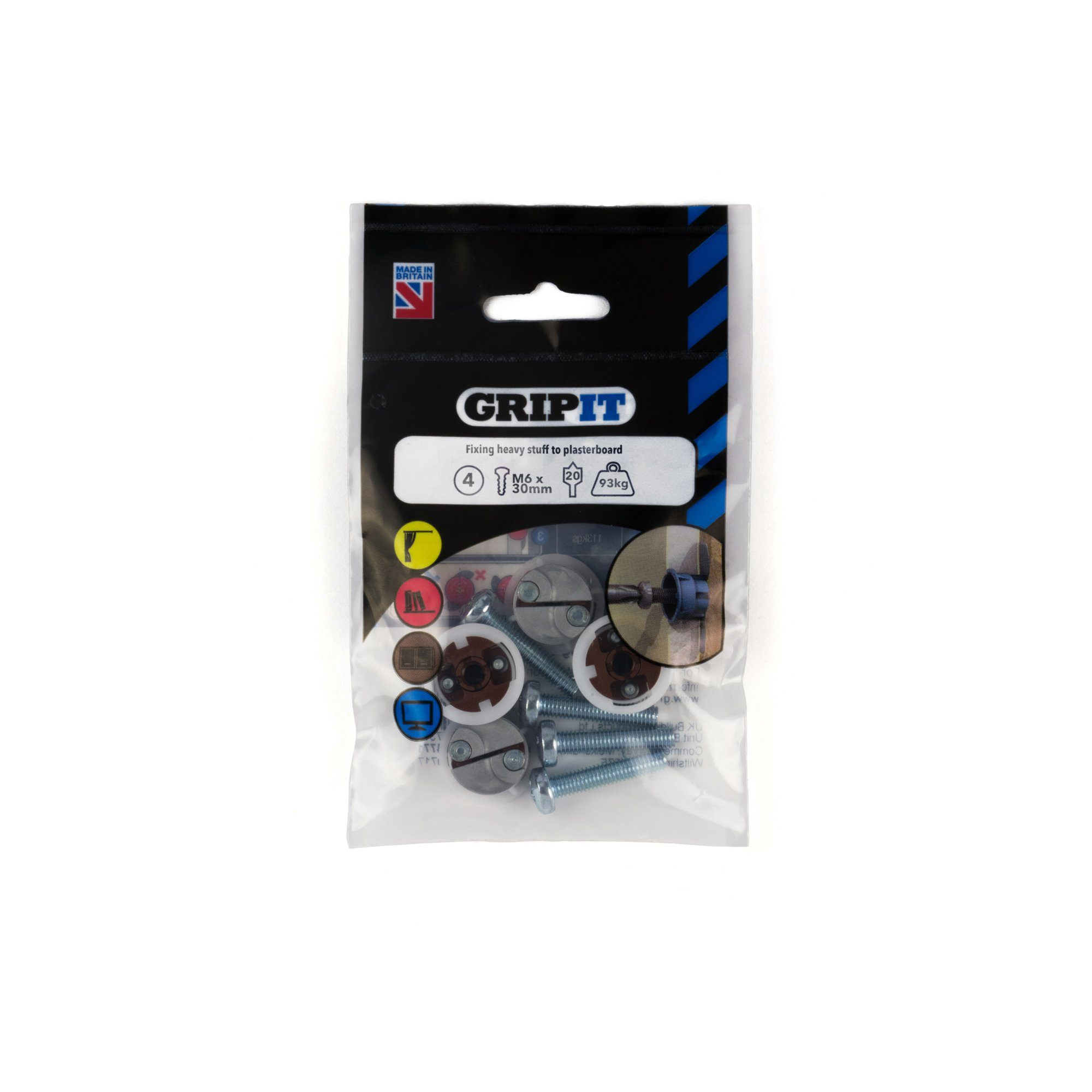 GRIP-IT 20mm Brown Pack of 4