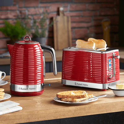 Russell Hobbs Inspire 2 Slice Red Toaster