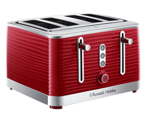 Russell Hobbs Inspire 4 Slice Red Toaster