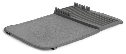 Umbra UDRY Mini Dish Rack & Drying Mat - Charcoal
