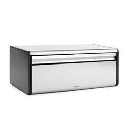 Brabantia Fall Front Bread Bin - MATT STEEL FINGERPRINT PROOF