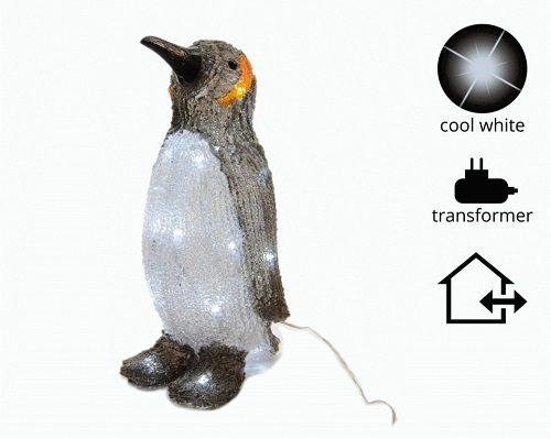 Kaemingk Outdoor LED Acrylic Penguin 24 Light Cool White
