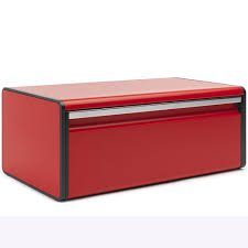 Brabantia Fall Front Bread Bin - PASSION RED