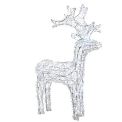 Kaemingk LED Acrylic Reindeer 60cm Cool White