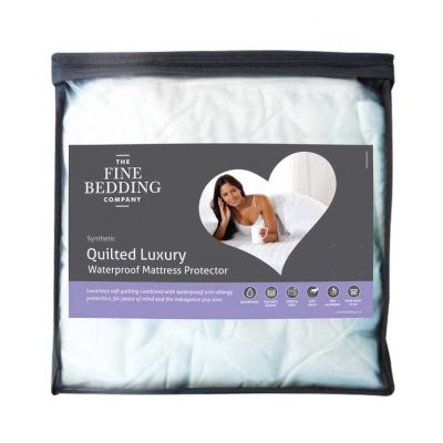Fine Bedding Quilted Luxury Waterproof Mattress Protector - Single