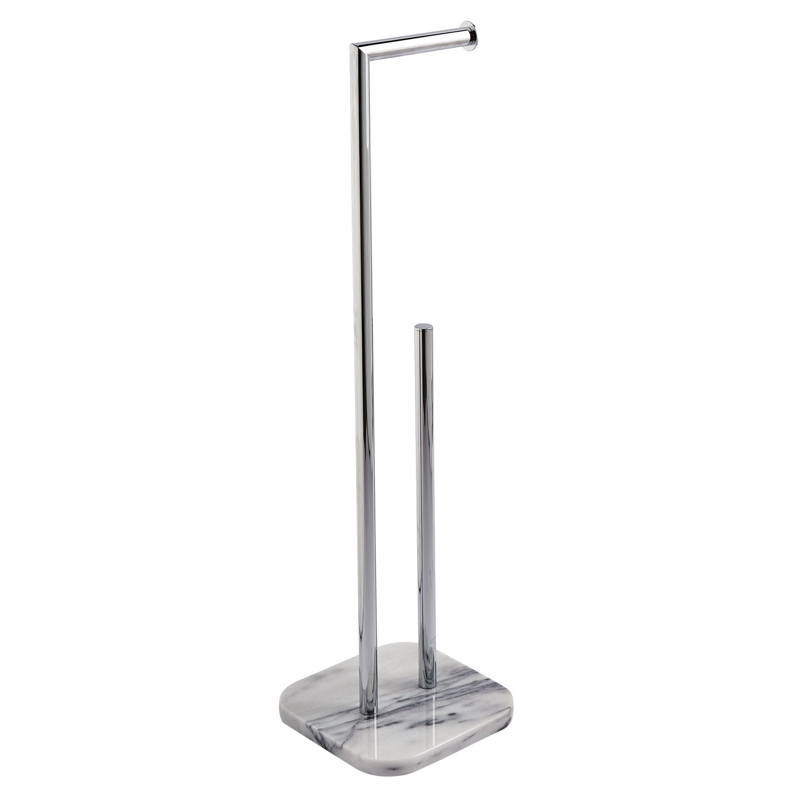 "Showerdrape Marble Free Standing ""Athena"" Toilet Roll Holder & Spare Toilet Roll Holder"