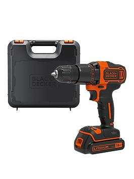 Black & Decker 18V Lithium-ion 2 Gear Hammer Drill with Kit Box