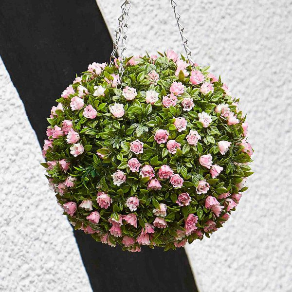 Smart Garden Topiary Pink Rose Ball 30cm