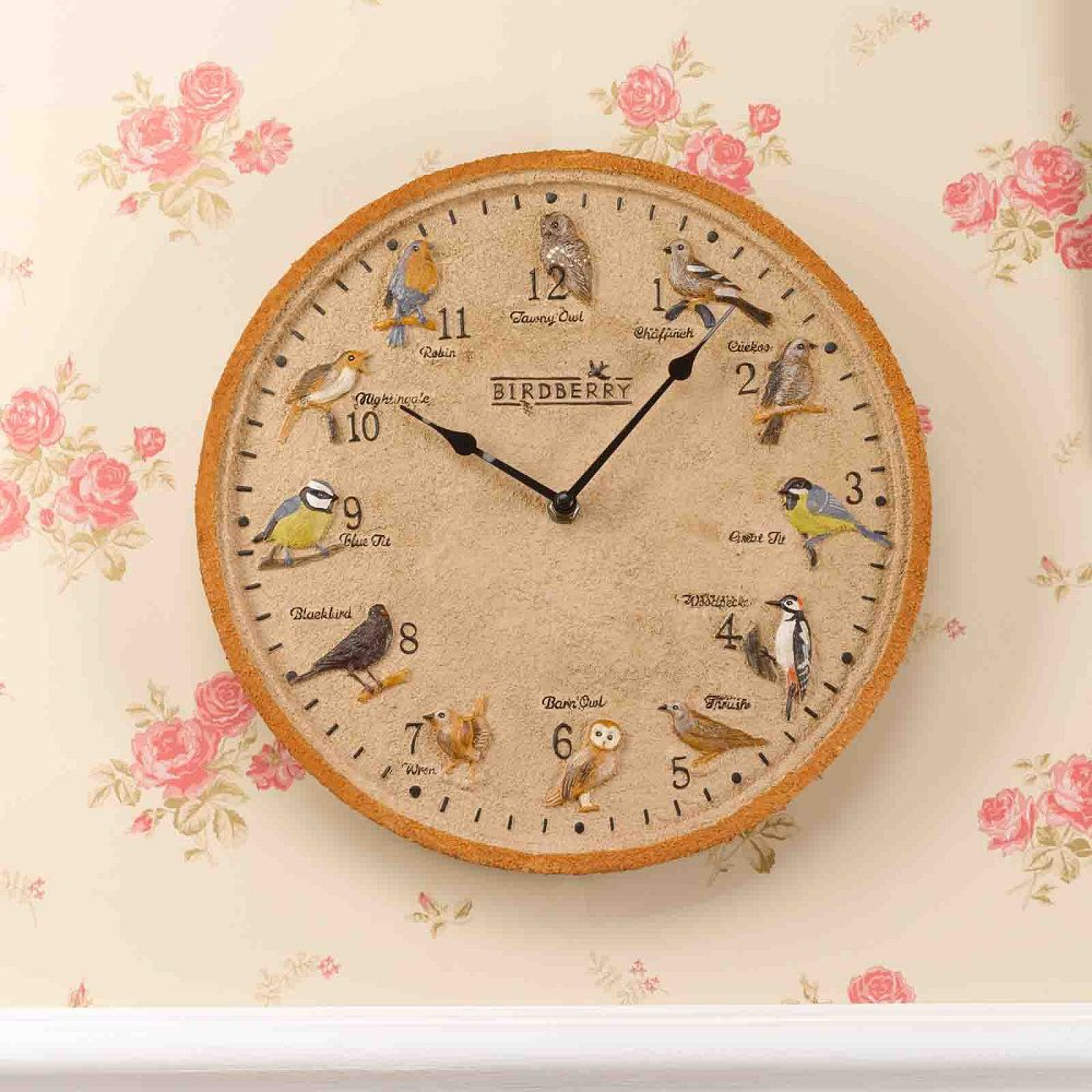 Smart Birdberry Wall Clock 12inch