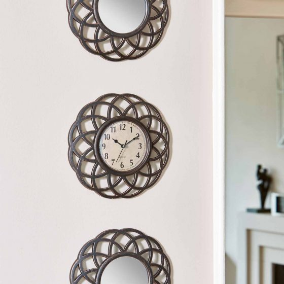 Smart Garden Triple Ascot Clock, with Mirror and Frame