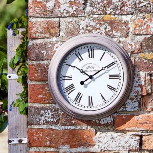 Smart Garden Biarritz Grey 12in Wall Clock