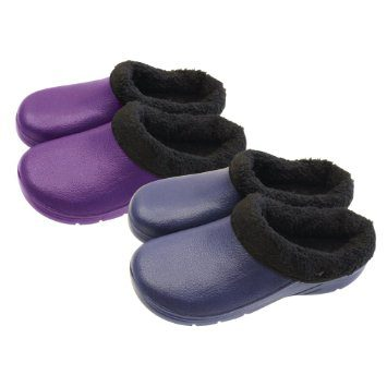 Briers Fleece Lined Navy Clog