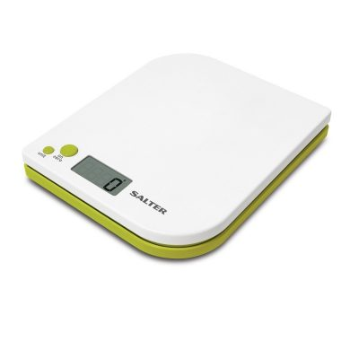 Salter Leaf Electronic Digital Kitchen Scale - White