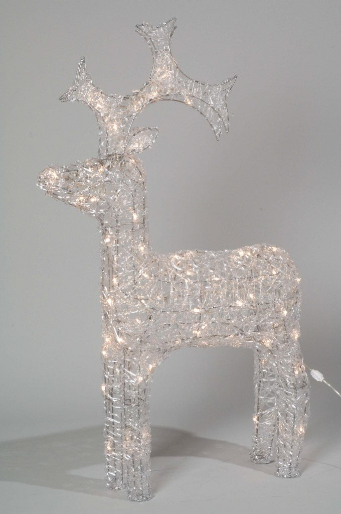 Kaemingk LED Outdoor Acrylic Reindeer 90cm Warml White