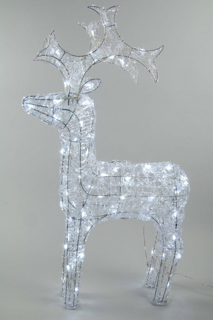 Kaemingk LED Outdoor Acrylic Reindeer 90cm Cool White