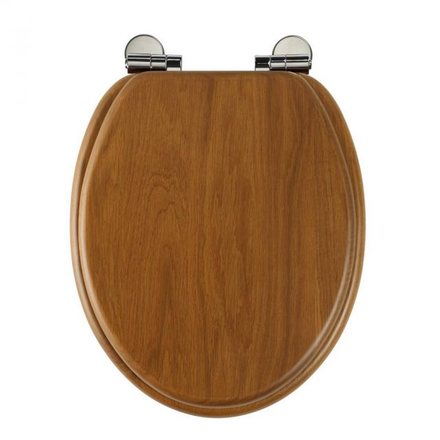 Roper Rhodes Traditional Soft-Closing Toilet Seat - Honey Oak