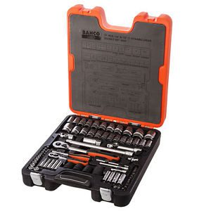 "Bahco S800 77 Piece 1/4"" & 1/2""drive Metric AF Socket Set"
