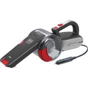 Black & Decker 12V Car Handheld Dustbuster Pivot Grey and Red