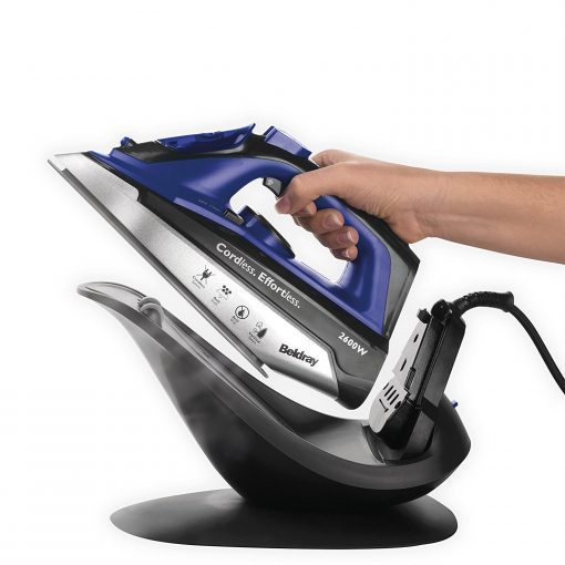 Beldray 2-in-1 Cordless Steam Iron, 2600 W, Blue