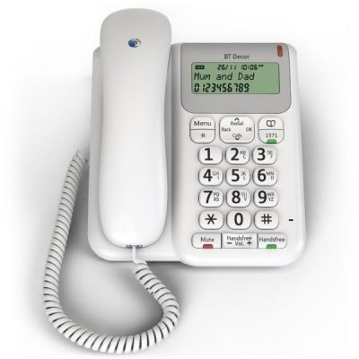 BT Decor 2200 Corded Telephone White