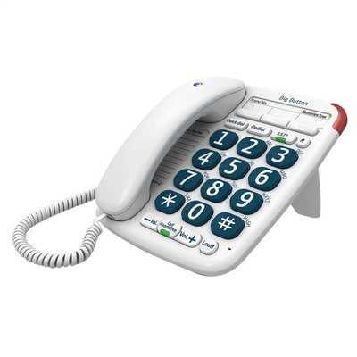 BT Big Button 200 Corded Telephone White