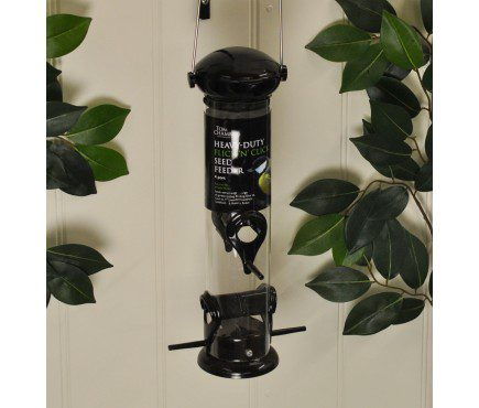 Tom Chambers Heavy Duty Flick And Click Seed Feeder 4 Port