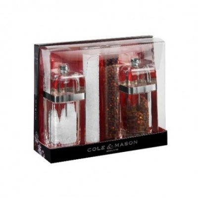 Cole & Mason Kempton Salt and Pepper Gift Set 130mm Precision with Refills