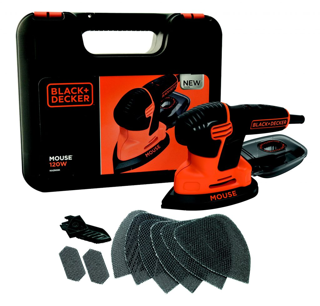 Black & Decker Compact Mouse With Kit Box & 9 Accessories KA2500K