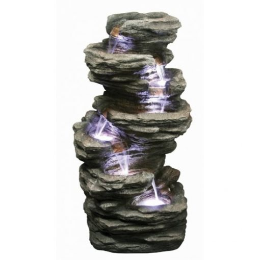Aqua Creations 6 Fall Slate Water Feature with LED Lights