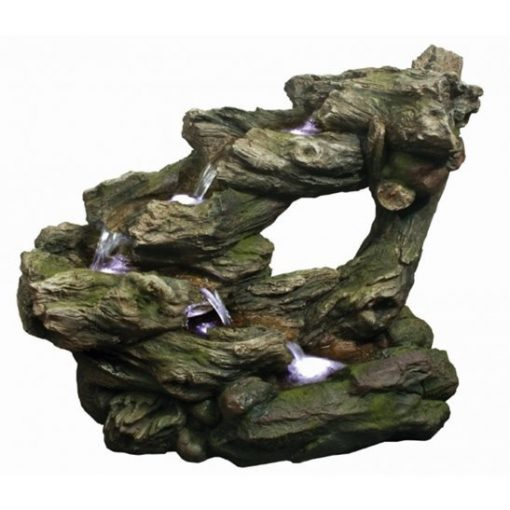 Aqua Creations 5 Fall Open Woodland Falls Water Feature with LED Lights