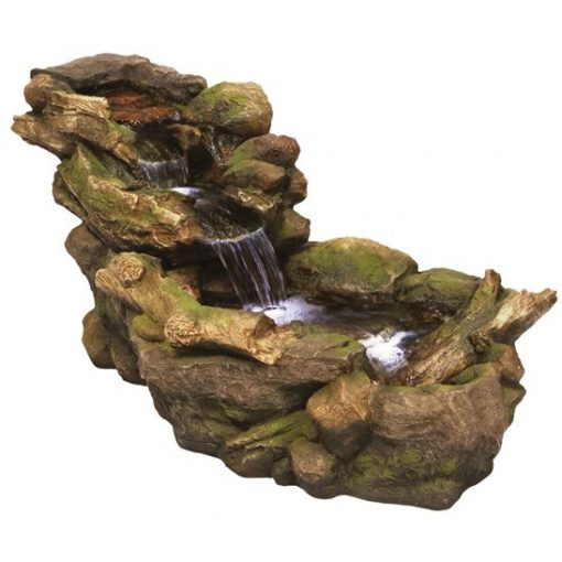 Aqua Creations Woodland River Water Feature with LED lights
