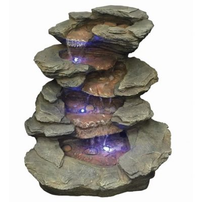 Aqua Creations Seattle Slate Falls Water Feature with LED Lights